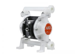 "Aro¨ PE03P-BRS-PTT-AD0 Compact Series 3/8"" Diaphragm Pump With Polypropylene Centre Section and Polypropylene (Multiple Port) Body (Polypropylene Seats"