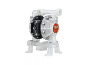 """Aro¨ PE05P-BRS-PTT-BDE Compact Series 1/2"""" Diaphragm Pump With Polypropylene Centre Section and Polypropylene (Miltiple Port) Body (Polypropylene Seats"""