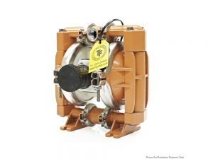 """Nomad 15-2798 Trans-Flo Gold 1/2"""" Diaphragm Pump With Polypropylene Centre Section and Stainless Steel Body (Stainless Steel Seats"""