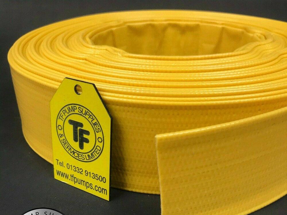 Yellow Layflat PVC Discharge Hose