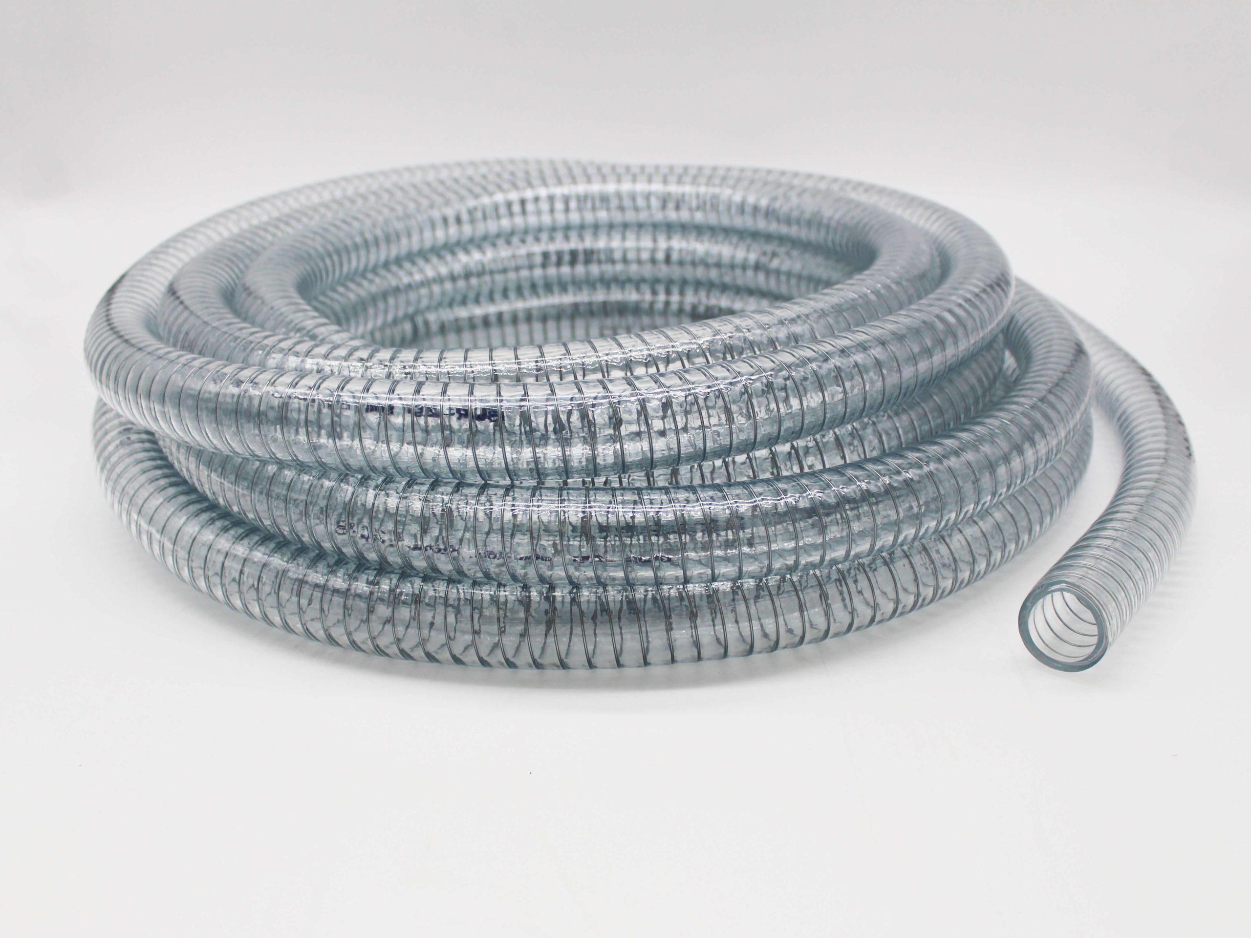 Clear Steel Braided PVC Hose